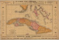 Map of Cuba: its provinces, railroads, cities, towns, harbors, bays, etc. also southern Florida and neighboring islands of the West Indies   (click for a larger preview)