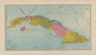 Hammond's map of Cuba   (click for a larger preview)