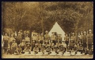 Scout troop in front of Tent   (click for a larger preview)