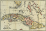 War map and history of Cuba: including the opening of the American-Spanish War   (click for a larger preview)