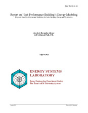 Report on High Performance Building's Energy Modeling, Physical Building Information Modeling for Solar Building Design and Simulation   (click for a larger preview)