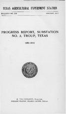 Progress Report, Substation No  2, Troup, Texas, 1901-1914