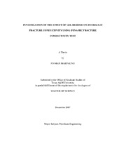 Hydraulic fracture thesis