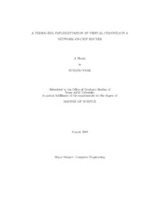 Network on chip master thesis