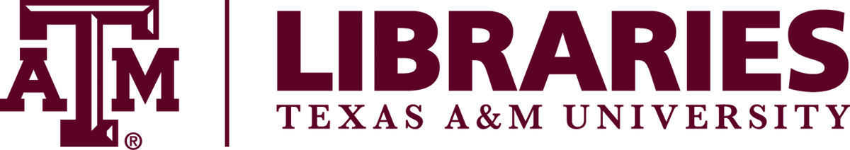 Logo for Texas A and M Libraries