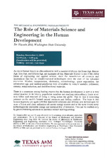 The Role of Material Science and Engineering in the Human Development   (click for a larger preview)
