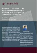 Emerging Materials Applications Related to Energy Efficiency and Environmental Sustainability. Myth or Fact?   (click for a larger preview)