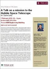 A Talk on a mission to the Hubble Space Telescope   (click for a larger preview)
