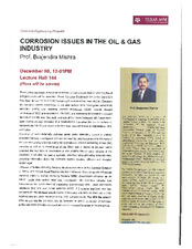 Corrosion Issues in the Oil &Gas Industry   (click for a larger preview)