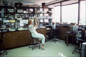 Laboratory Worker Fills Syringe   (click for a larger preview)