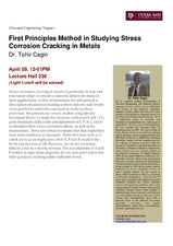 First Principles Method in Studying Stress Corrosion Cracking in Metals   (click for a larger preview)