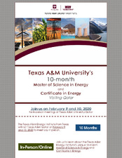 Master of Science in Energy and Certificate in Energy Visiting Qatar   (click for a larger preview)