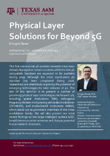 Physical Layer Solution for Beyond 5G   (click for a larger preview)